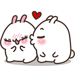 Cute Bunny Couple Ppoya & PpoPpo Ver.1