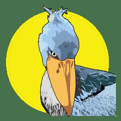 Sluggish bird Shoebill