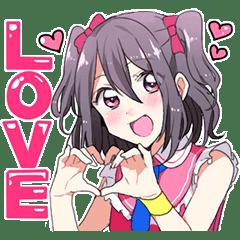 Moe everyone's cute idol Sticker