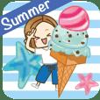 大人が使える日常スタンプ6【夏】 - クリエイターズスタンプ