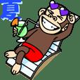 夏もイラッと動く★お猿さん | LINE STORE