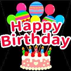 【開いて飛び出す!】お誕生日&おめでとう