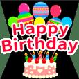 【開いて飛び出す!】お誕生日&おめでとう | LINE STORE