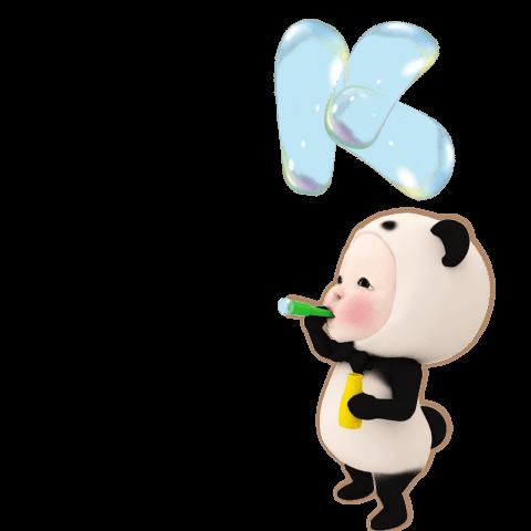 สติ๊กเกอร์ไลน์ Pop-Up Panda Towel