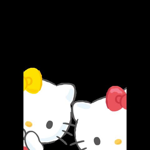 สติ๊กเกอร์ไลน์ Hello Kitty Pop-Up Greeting Stickers