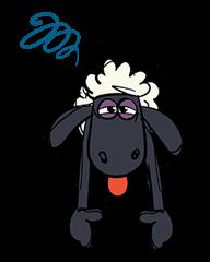 日文】笑笑羊全螢幕貼圖  Yabe-LINE貼圖代購  台灣No.1,最便宜高效率的代購網
