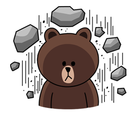 Brown Line Sticker Png Kamos Sticker